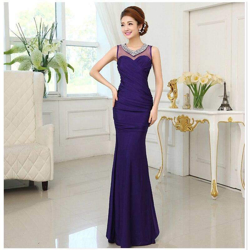 Aliexpress Com Buy Simple Elegant See Through Lace Part: Popular Purple Mermaid Dresses-Buy Cheap Purple Mermaid