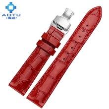 Women Genuine Leather Watchbands For Tissot 1853 16mm Ultra Thin Watch Strap For Ladies Waterproof Women Clock Bracelet Belt