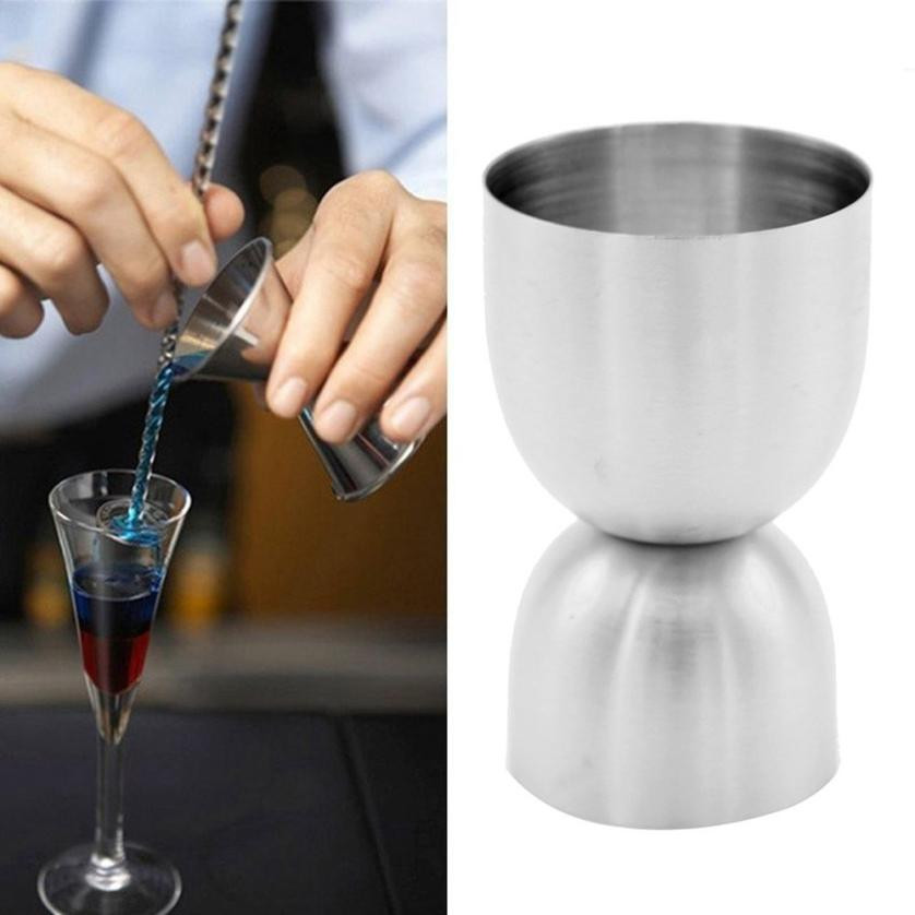 Stainless Spirit Cocktails Measure Cup Jigger Alcohol Bartending Bar&Wine Tools  new arrival #0614 Home Decor high quality