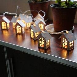 LightMe Wood house Shape String Light Christmas Light Wedding Decor Led String Lights Christmas Led Light For Party Xmas Garland