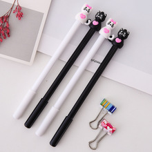 36 Pcs/lot Lovely Black White Cat Gel Pen Kawaii 0.5MM Ink Pens for Writing Neutral Oiice School Suppleis