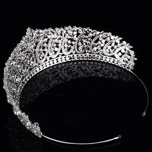 Image 5 - 王冠ヘッドバンドファッショナブルな真珠のデザイン結婚式のヘアアクセサリーの高級ジュエリー aaa + ジルコン BC4955 コロナプリンセサ