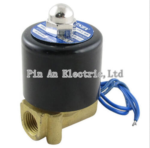 2W-025-06 2 Way Brass Air Gas Water Solenoid Valve 1/8 BSP Normal Close DC12V,DC24V,AC110V,AC220V 1 2 built side inlet floating ball valve automatic water level control valve for water tank f water tank water tower