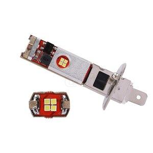 Image 4 - 2pcs Canbus led H1 H3 LED Bulb 12 led CSP Chip 60W Auto Car Fog Light Lamp Driving Running Light 6000K White 12V 24V