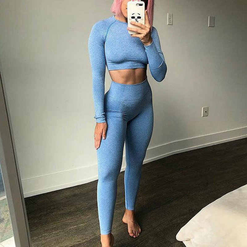 Solid High Waist Energy Seamless Yoga Leggings Women Workout Running Sport Pants Push Up Hip Fitness Gym Leggings Female Tights