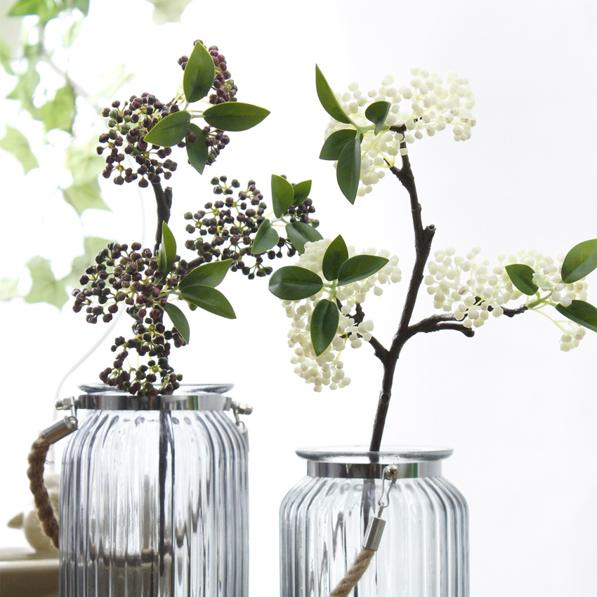 Simulation Artificial Flower Plant Fake Flower Small Berry Blueberry Home Access