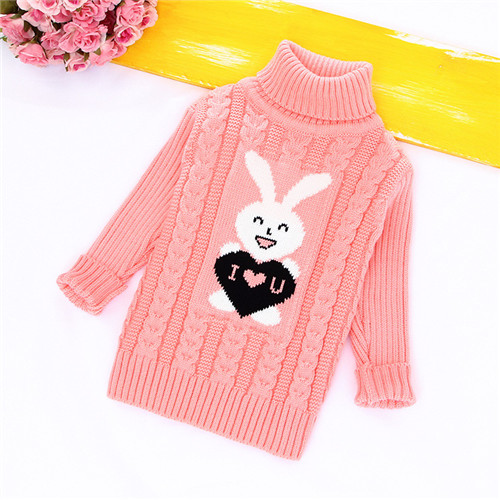 Warm Bear Print Kids Sweater for Boys Girls Coat Long Sleeve Autumn Children's Sweaters New Soft Baby Pullover Toddlers tops rabbit print pullover