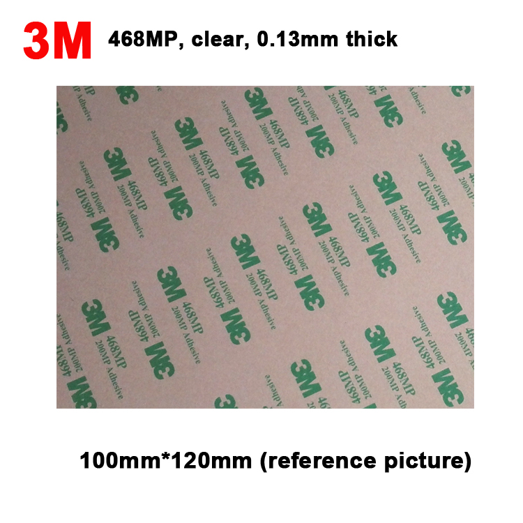 120mmx100mm <font><b>3M</b></font> 468MP <font><b>200MP</b></font> Two Sides Adhesive Sticker for Keyboard Rubber, Foam Phone Panel Screen Repair,Hi-Temp. Resist image