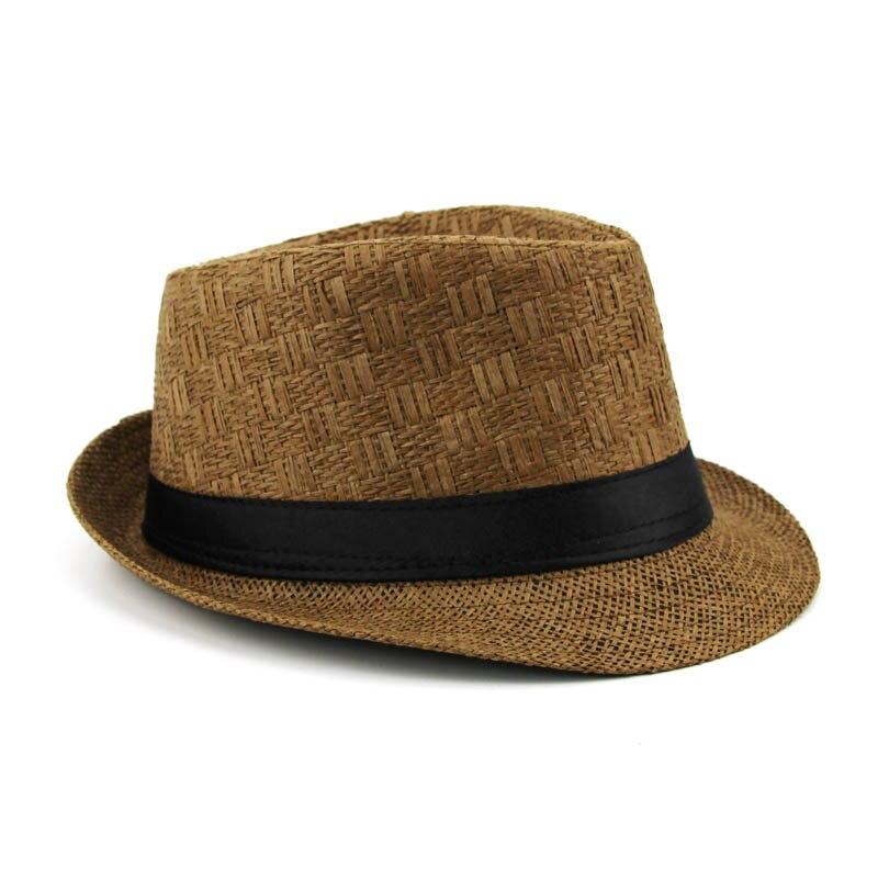 63a06d7ef Brand Sun Hats For Men Casual Trilby Straw Panama Cap Men Beach Straw Hat  Summer Jazz Bucket Hat For Male Visor Gangster Cap