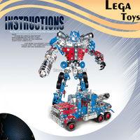 Iron Commander Assembled Deform Groot Robot Car Model Blocks set Assembly Metal Building Blokcs Toys for Kids Educational Gifts