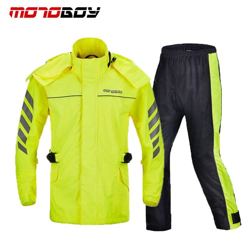 MOTOBOY Off Road Racing Rain Coats Motorcycle Riding Reflective Rain Suits Jackets Pants Hiking Climbing Raincoat