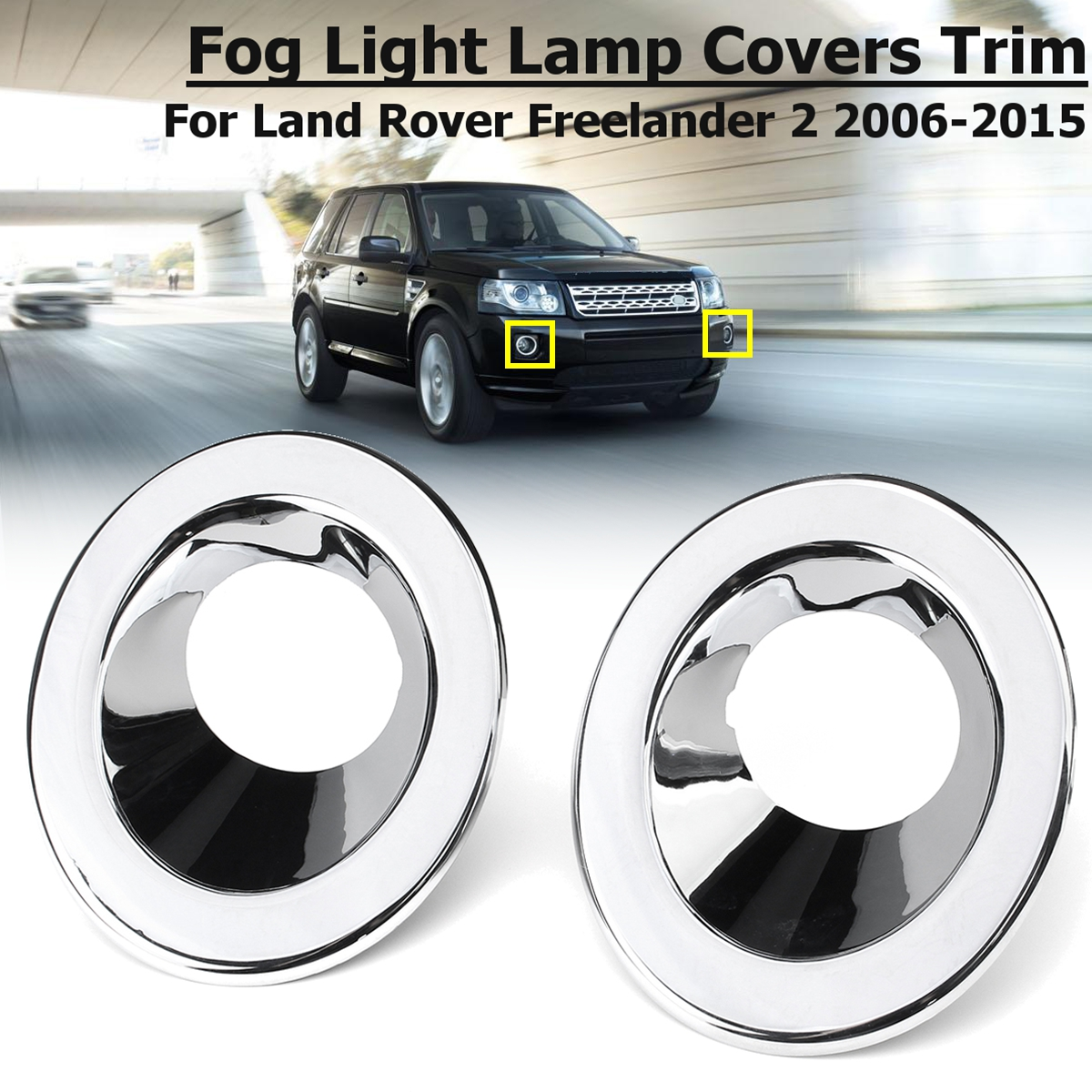 Aliexpress.com : Buy Chrome Front Fog Light For Land Rover