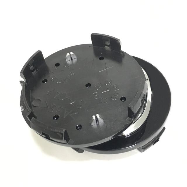 4Pcs 56mm Black Car Accessories Wheel Hub Caps Car Brand Emblem Cover Tires  RimFor Mazda 3