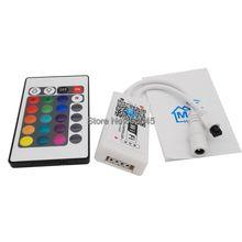 DC12V 12A 3x4A Mini Wifi RGB LED Controller android /iOS + IR 24Key Wireless Remote WiFi-113-IR for 5050 3528 RGB Strip Light