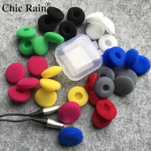 20pcs ear pads for headphones Foam 18mm Sponge Bluetooth Earphones Replacement earphone Earpads Covers MP3 MP4 Moblie Phone(China)