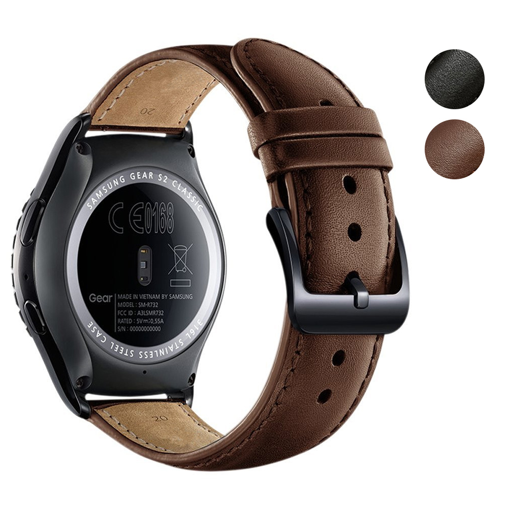 <font><b>20mm</b></font> Watch <font><b>Bands</b></font> Genuine Leather Strap <font><b>For</b></font> Samsung Gear S2 Classic Smart Watch Replacement Wristband Accessories <font><b>for</b></font> <font><b>Amazfit</b></font> BIP image