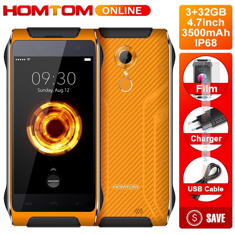 Original HOMTOM HT20 PRO IP68 Waterproof Smartphone MTK6753 Octa Core 8.0MP 4.7 Inch 3G RAM 32G ROM 4G Fingerprint ID FDD-LTE