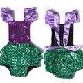 Princesa crianças Sereia Romper Meninas Do Bebê Lantejoulas Sereia Outfits One-pieces Romper Sunsuit