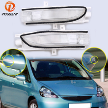 POSSBAY Car Rearview Mirror Turn Signal Lights LED Lamp for 2007-2008 Honda Fit Hatchback Auto Exterior Warning Light car rearview mirror turn signal lights led lamp for toyota wish prius mark x crown auto exterior warning lights turning signal