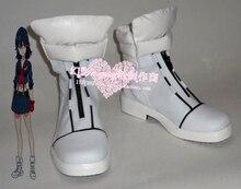Убийство ла Убийство Рюко Matoi Девушки Белый Косплей Обувь Короткие Сапоги H016