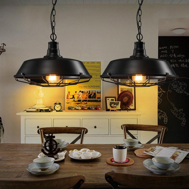Vintage Loft pendant lamp warehouse droplight dinning room bar corridor pub restaurant cafe lamp iron cage hanging chandelier loft industrial rust ceramics hanging lamp vintage pendant lamp cafe bar edison retro iron lighting