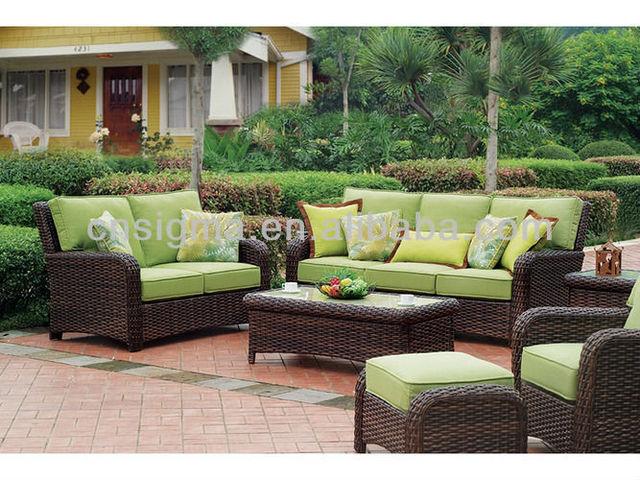 Rieten Balkon Meubels : Rotan tuinmeubilair stuk outdoor rieten balkon meubels sofa