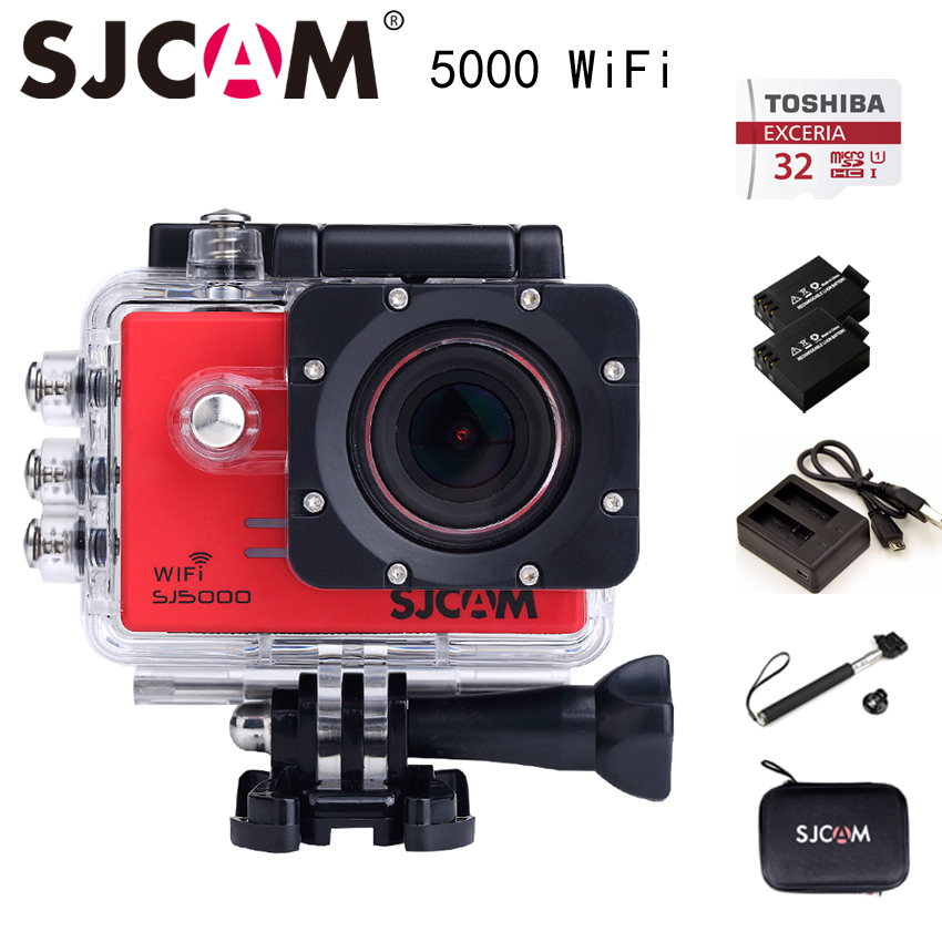 Original SJCAM SJ5000 WIFI Action Camera Sport camera Waterproof Camera  Novatek 96655 1080P Full HD gopro style Camera DV