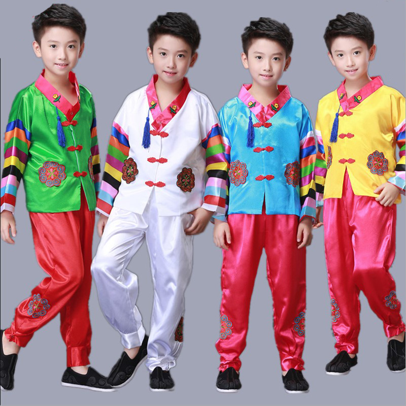 Asia & Pacific Islands Clothing Disciplined Kid Boy Traditional Korean Clothing Costume Male Hanbok Clothes Hanfu Holiday Party Performance Costume For Children Relieving Rheumatism And Cold