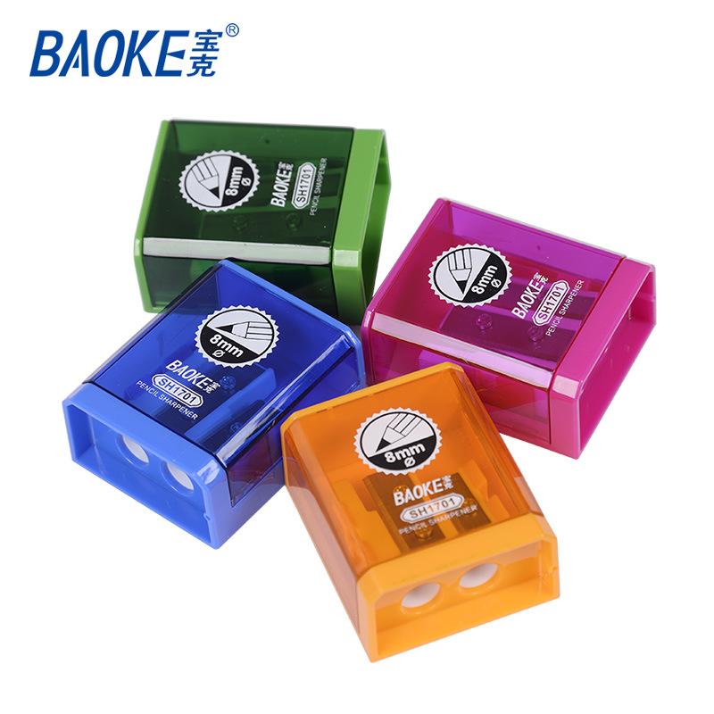 Baoke Double Hole Pencil Sharpener Cute Classical Makeup Pen Sharpener For Kids Gifts Back To School Stationery Office Supplies
