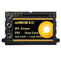 IPS Screen Android 8.0 4+32G Car multimedia dvd player head unit For Ford Fusion/Explorer/F150 GPS Navigation radio auto stereo