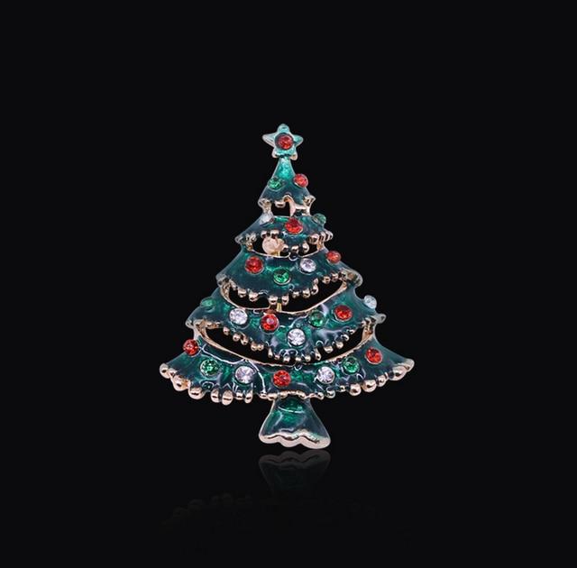 wholesale christmas tree brooch christmas tree pendant for diy jewelry 12pcslot christmas - Wholesale Christmas Gifts