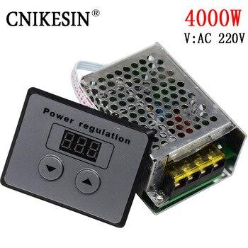 4000 W SCR yüksek güç 220 W elektronik dijital voltaj regülatörü, dijital kontrol, karartma, hız ayarı, sıcaklık kontrolü