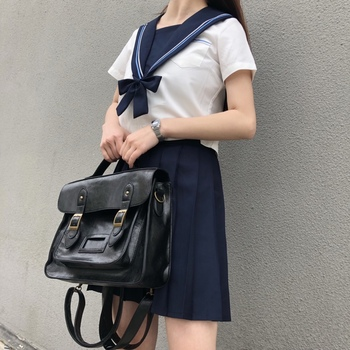 Korean vintage Women Backpacks preppy style student backpack multifunctional female shoulder bag women school bag ladies Totes japanese women ladies girls preppy style handbag lolita bowknot shoulder bag jk uniform messenger bag 3 way daypack school bag
