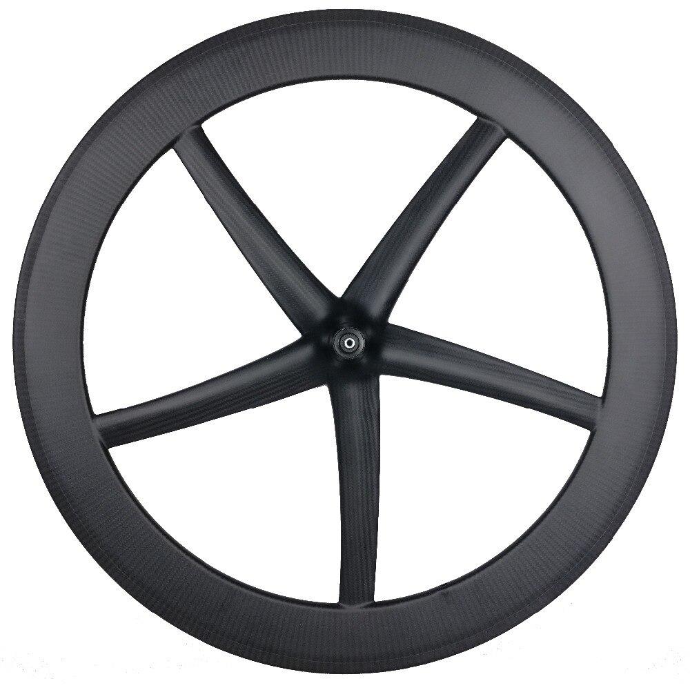 CarbonWheel 5 спиц Tubular и довод 65 мм колеса углерода 25 мм Ширина фиксированной Шестерни колеса