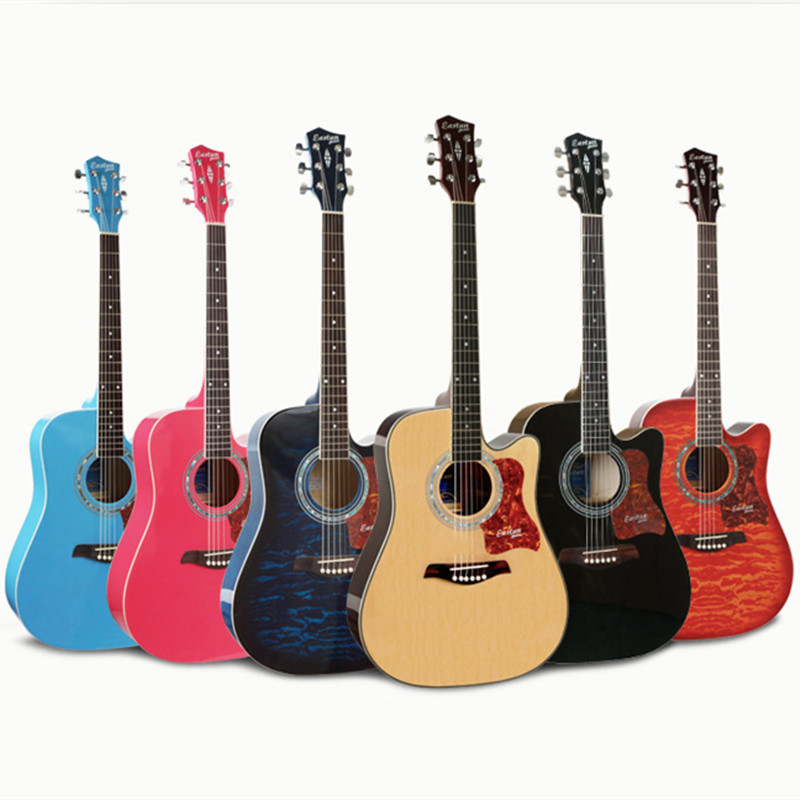 High Quality Guitars 41 Inch Spruce Acoustic Guitar Philippine Wood Fingerboard guitarra Free Shipping high quality solid wood guitar 41 inch spruce wood panel acoustic guitar guitarra free shipping
