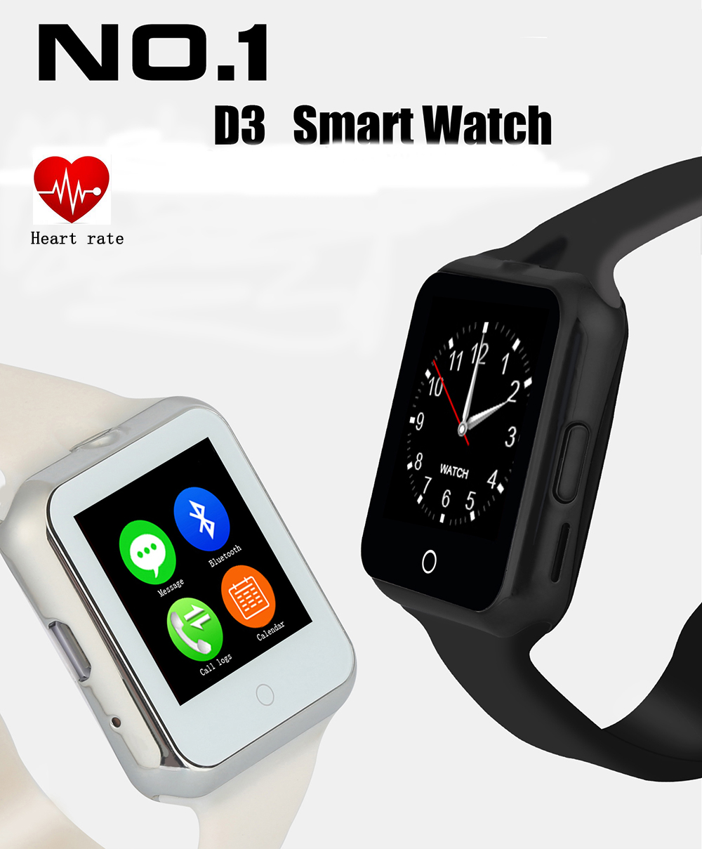 2016 font b Smart b font font b Watch b font D3 Clock Sync Notifier Support