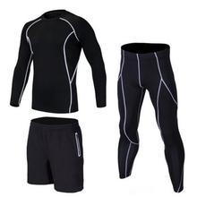 2017 18 hot underwear men underwear sets 3 pc compression underwear men fitness clothing