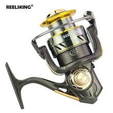 REELSKING KY Metal Spinning Fishing Reel 13+1BB High Speed Max Drag Baitcasting Soft Handle Left / Right Carp Bait Cast Wheel