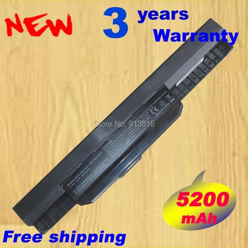 Nouvelle batterie d'ordinateur portable pour Asus A43 A43B A43E A53Z A54C K43 K53 K53SV X44H X53U X54L