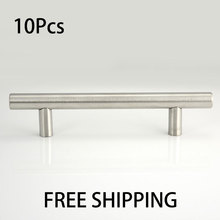 10pcs T Bar 96mm L6″ Kitchen Cabinet Door Drawer Stainless Steel Handle