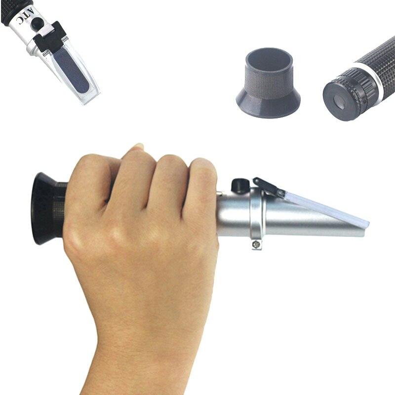 Hand Held 0-80% Alcool Réfractomètre Alcoomètre Alcool Liqueur Testeur Avec ATC