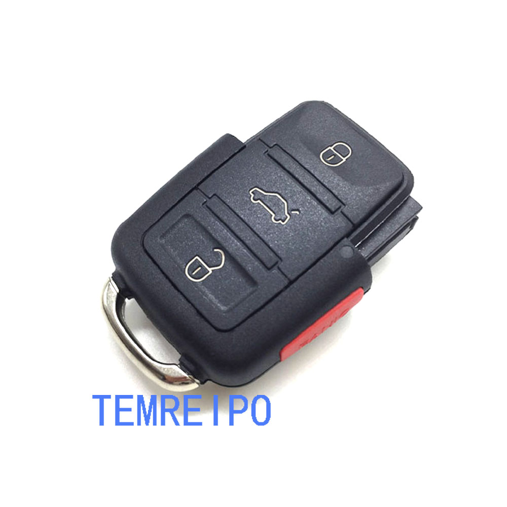 20pcs/lot 3+1 Buttons with panic button remote key blank Shell Replacement Cover for Volkswagen Skoda without key head