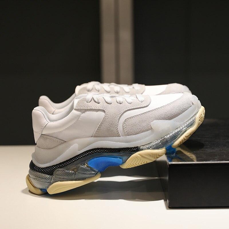 2019 Новое поступление на прозрачной платформе женские кроссовки разноцветные туфли без подъема стопы Для женщин дизайнерский бренд Runway tenis