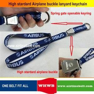 Image 3 - keyring Airbus Boeing aircraft airplane buckle Lanyard Pilot Crews ID Card Holder snap clasp clip Spring Gate ring sling string