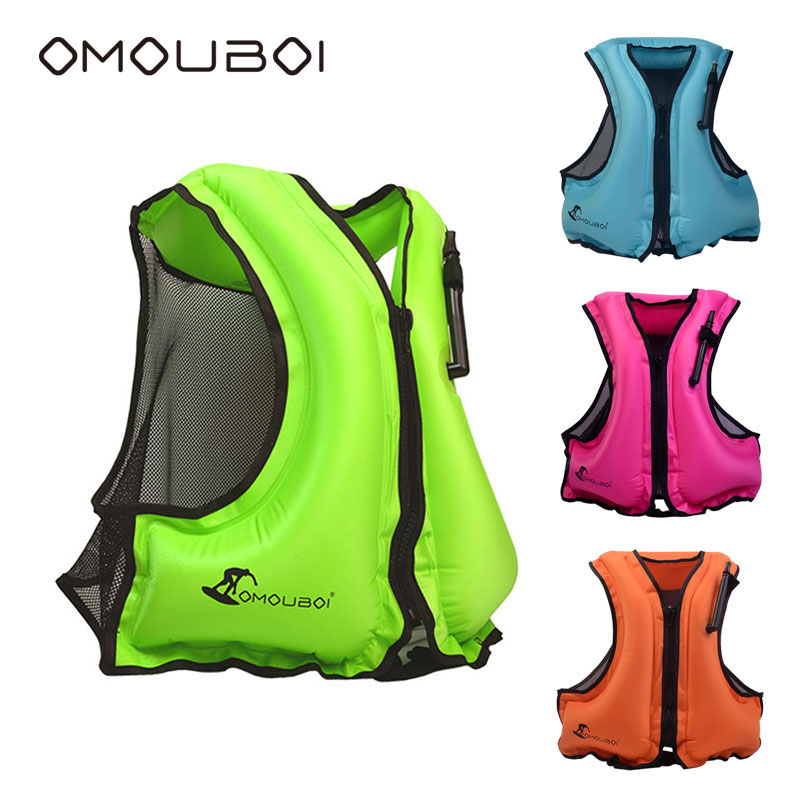 OMOUBOI Water Sport Buoyancy Kits Life Jacket Inflatable Jacket Vest,Surfing Swimming Safety Floatage Jacket For Adult 80-220lbs