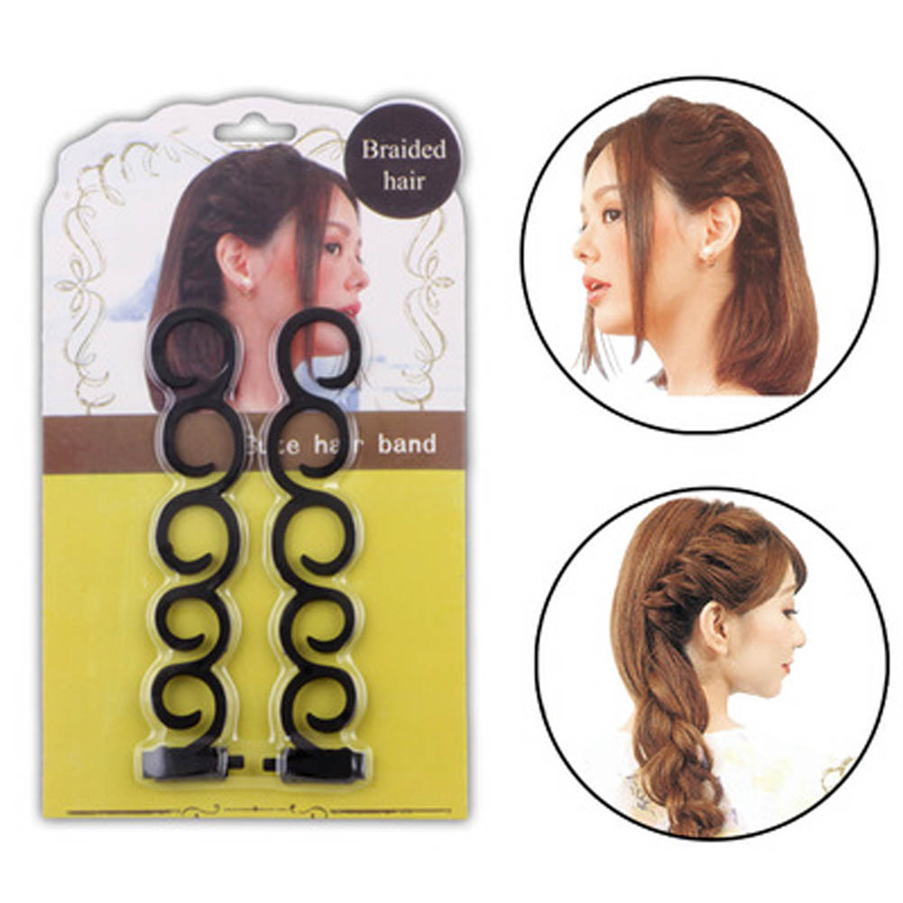 2pcs Hair Styling Tools Weave Braid Hair Braider Tool Hair