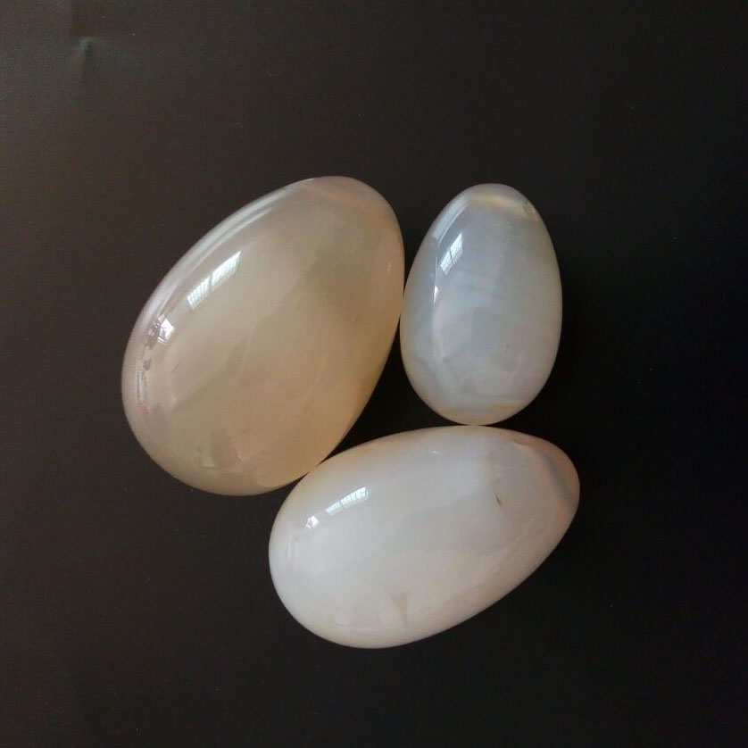 Фото 3 pcs/set Jade Eggs set Natural  Agate Yoni egg Jade egg Crystal Ball Pelvic Kegel Exercise Vaginal Tightening Sphere
