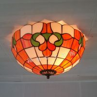 14 inch trophy British Princess room ceiling Tiffany simple porch stained glass lamps bedroom children study lighting