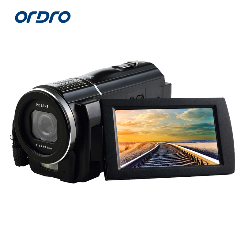Ordro HDV-F5 Full HD Digital Video Camera 24.0Mega Pixels 1080P Recorder 3 LCD Screen Support Wide Angle Lens HDMI canon 6d dslr camera full frame 20 2mp 3 0 lcd full hd 1080p video wi fi body only brand new