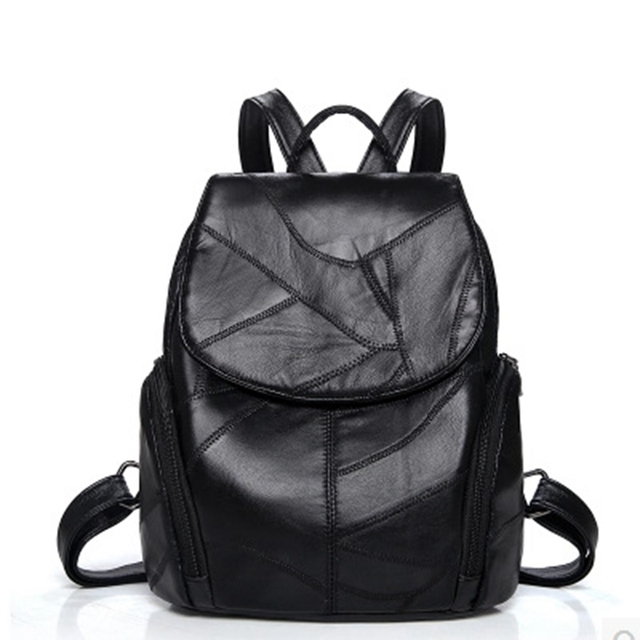 52d272133b06 New Women Backpacks Rivet Genuine Leather Bags Shoulder Schoolbags For  Girls Female Backpacks Travel hand Bag School Bag Girls